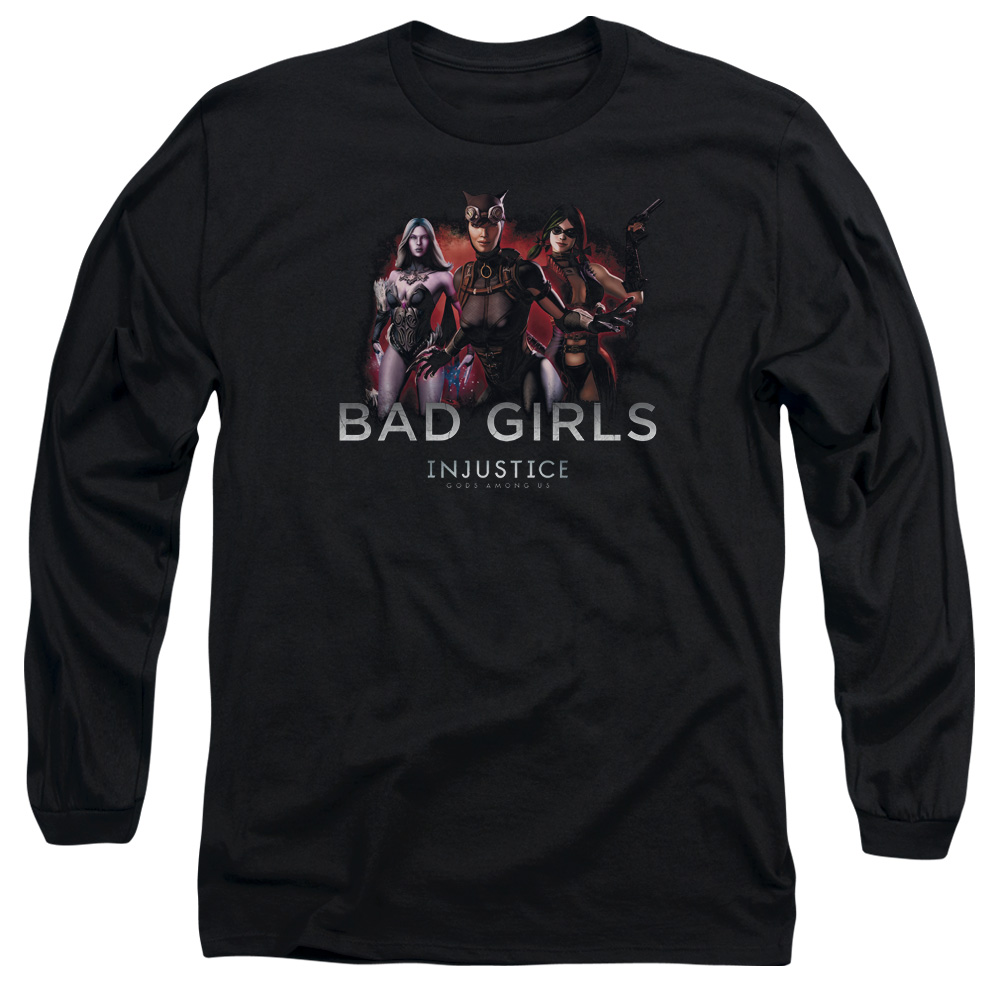 Injustice Gods Among Us Bad Girls Mens Long Sleeve Shirt