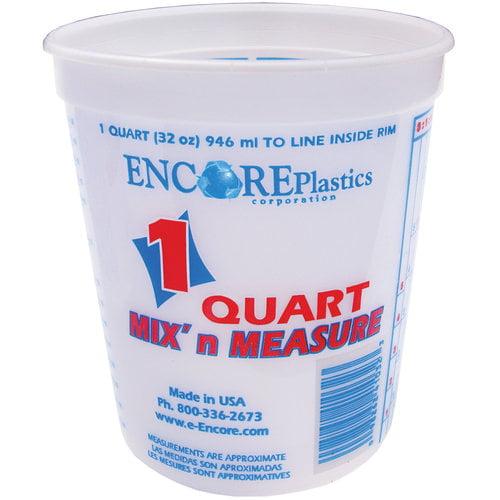 Encore Plastics 1-Qt Mix 'n Measure