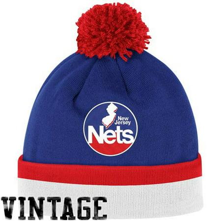 314226fbd1a NBA Mitchell   Ness KE31 Stripe Cuffed Pom Pom Knit Beanie HWC New Jersey  Nets - Walmart.com