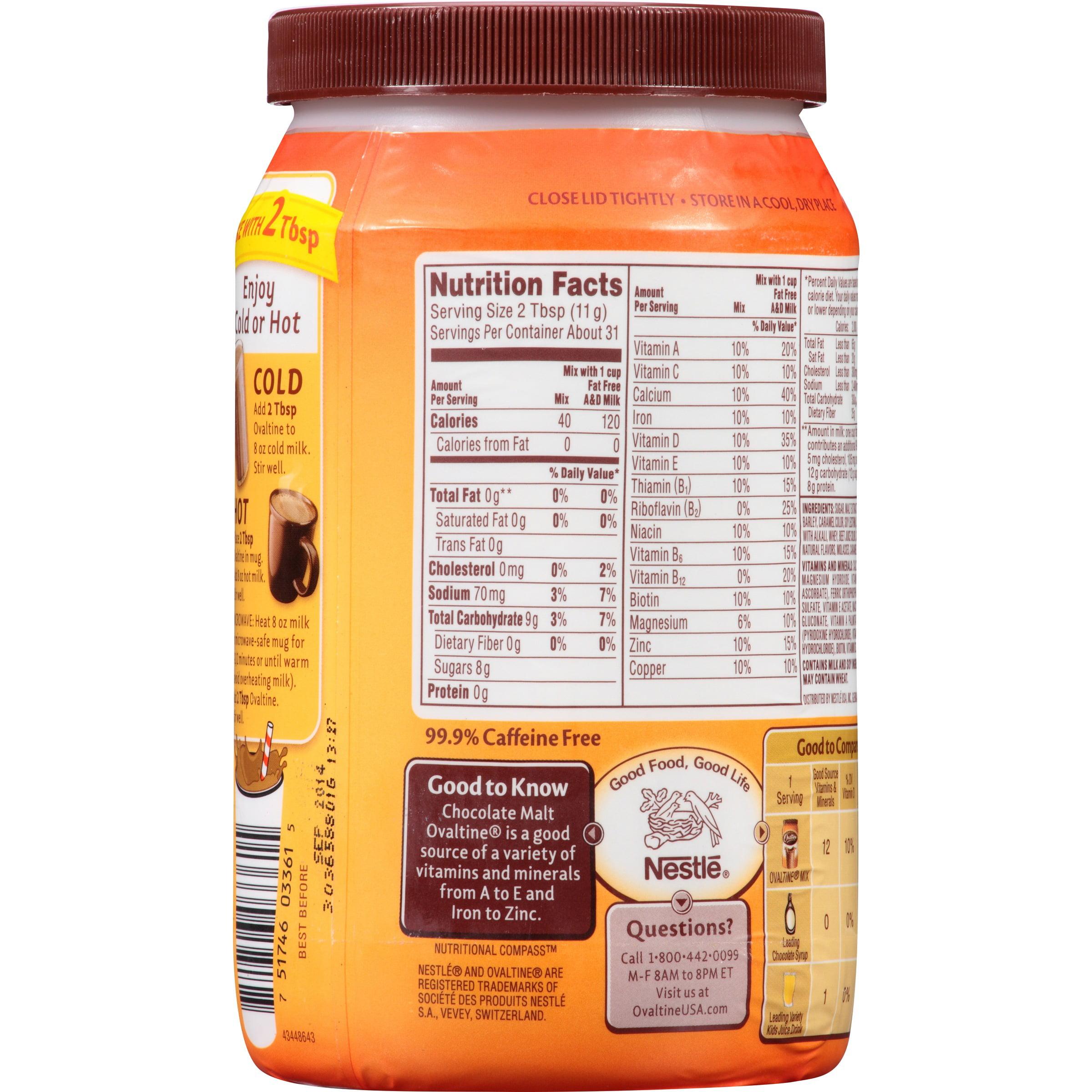 Calories in chocolate malt