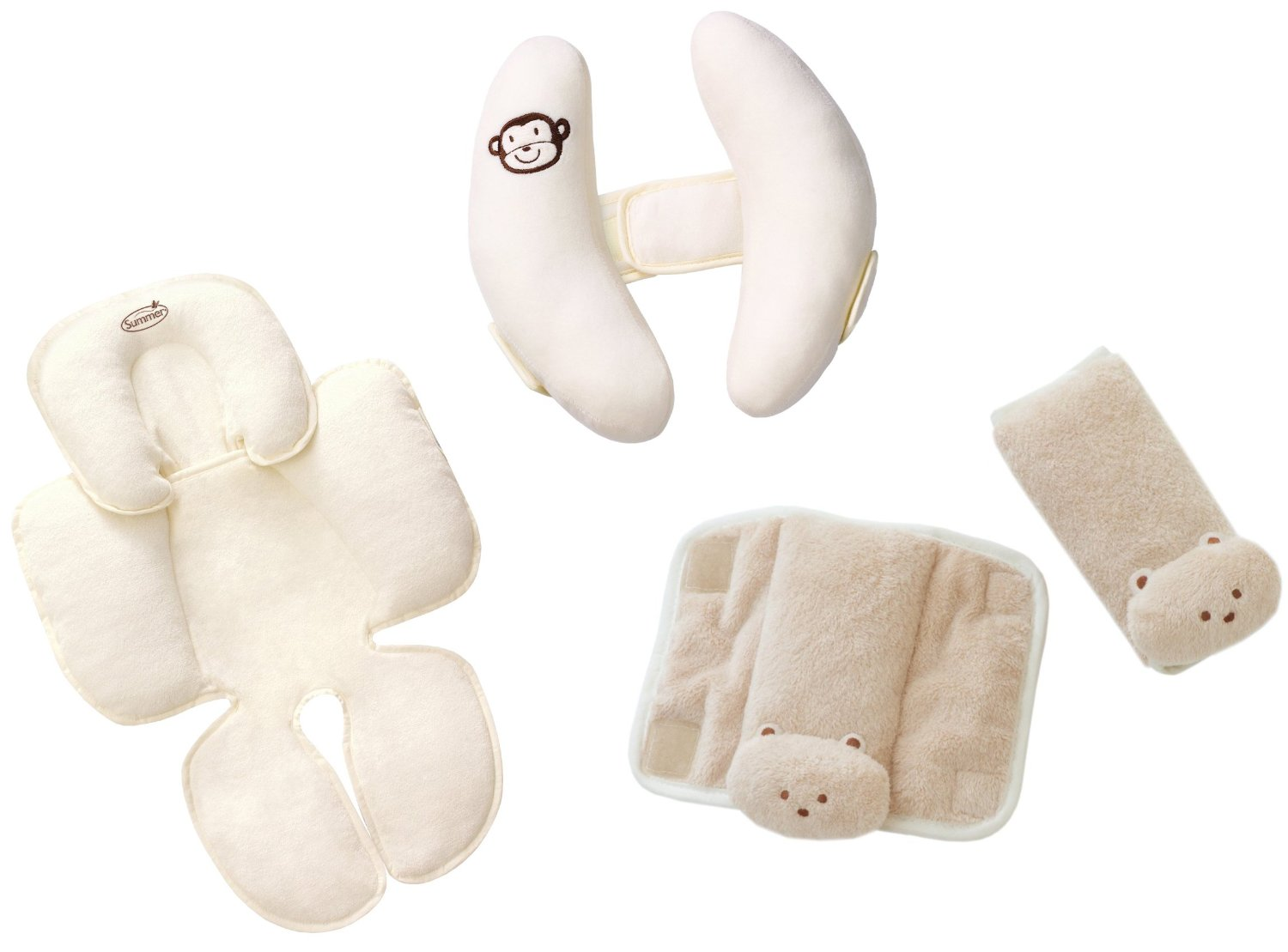 Summer Infant Snuzzler with Cradler Head Support & CushyStrap Strap Covers, Tan by Summer Infant