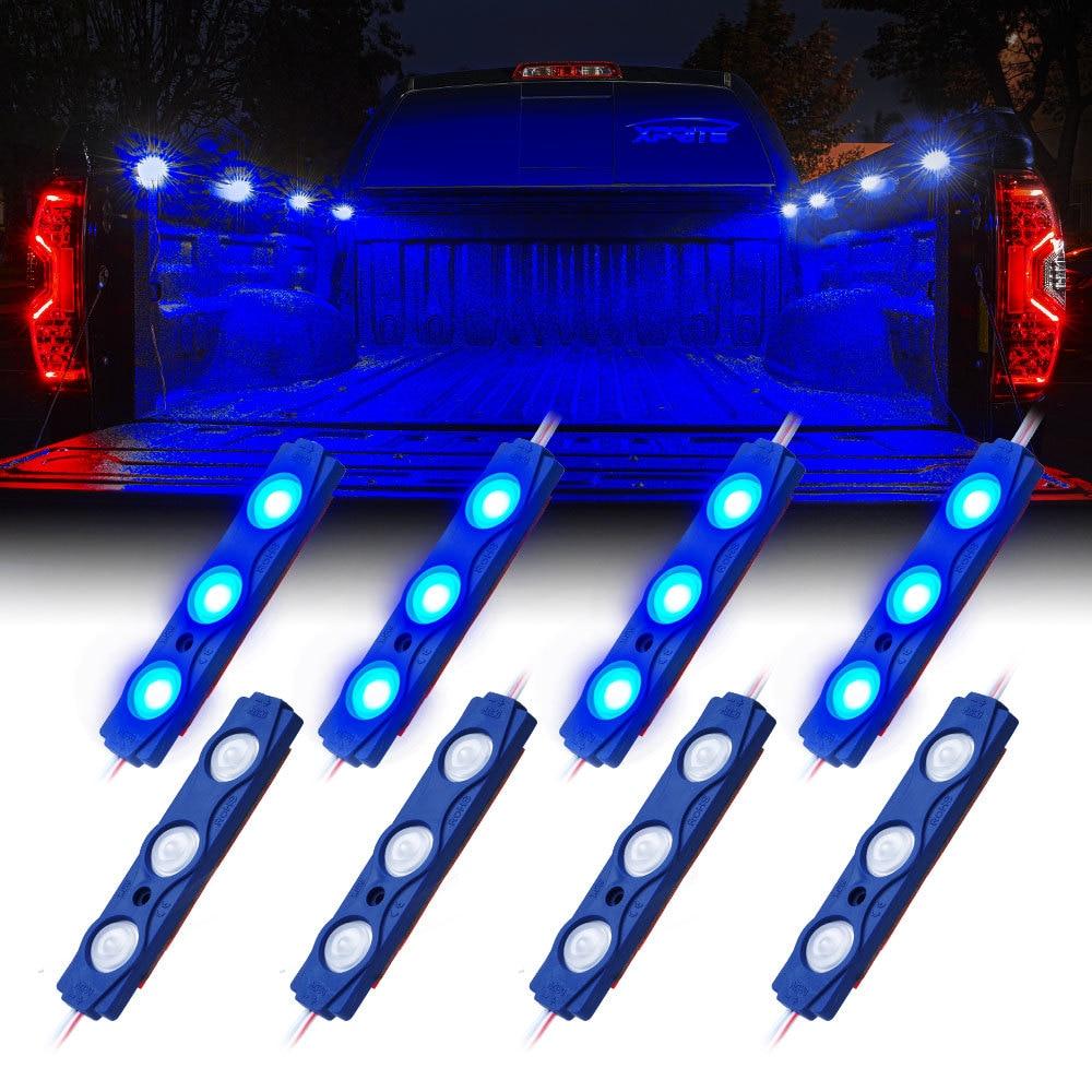 Xprite 8 LED Rock Light Pods Truck Bed Lighting Kit w/ Switch