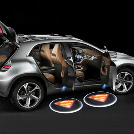 LED Car Door Super Projector Courtesy Light - Battery Powered - Set of 2