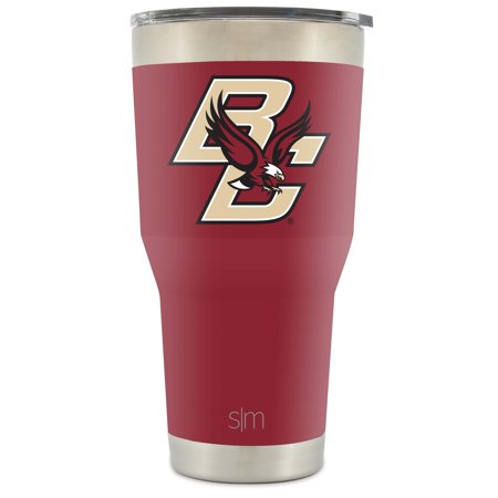 Simple Modern Boston College University 30oz Cruiser Tumbler - Vacuum Insulated Stainless Steel Travel Mug - BC Eagles Tailgating Hydro Cup College Flask (Bc Rich Eagle)