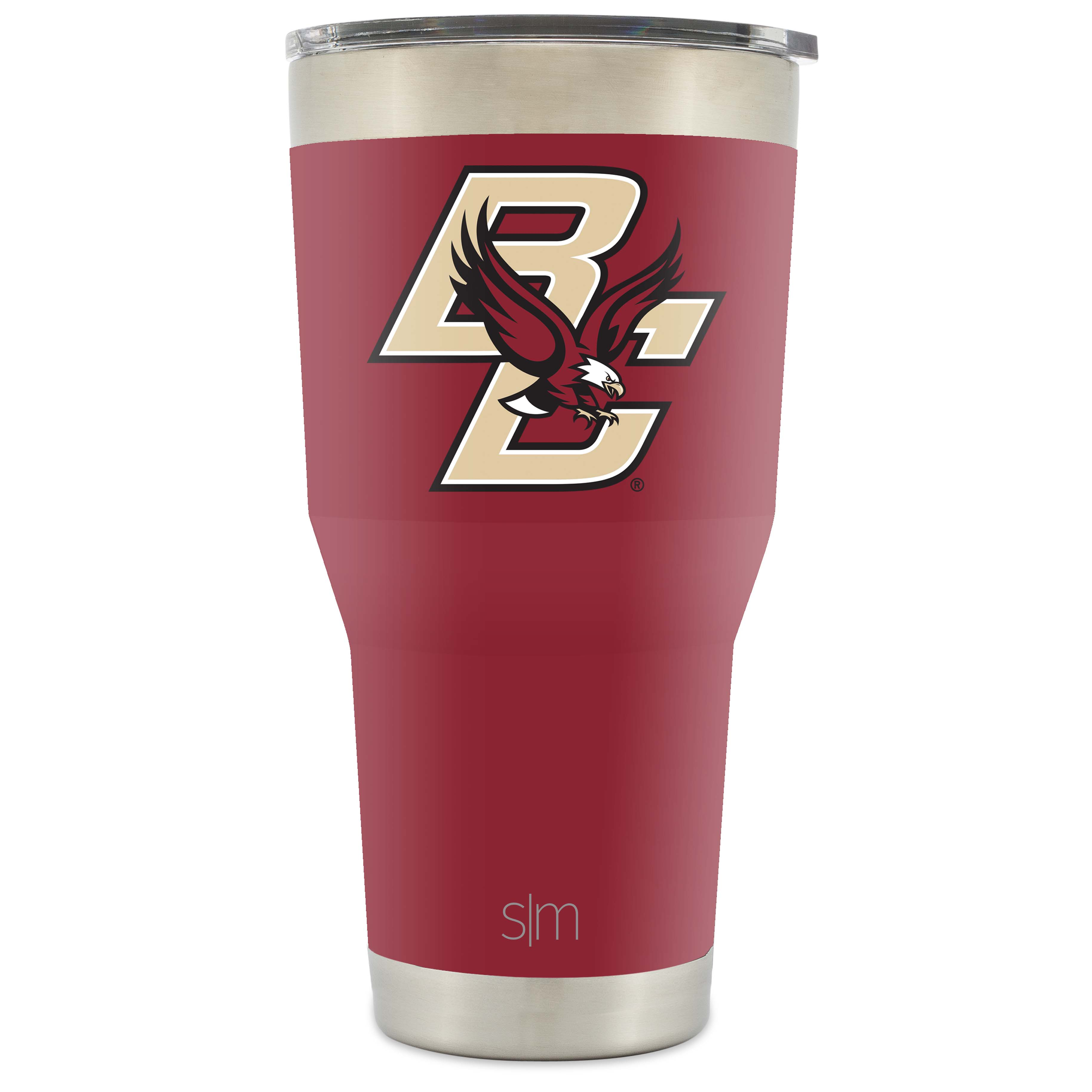 Simple Modern Boston College University 30oz Cruiser Tumbler - Vacuum Insulated Stainless Steel Travel Mug - BC Eagles Tailgating Hydro Cup College Flask