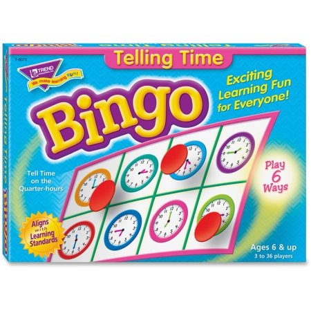 Trend, TEP6072, Telling Time Bingo Game, 1 Each