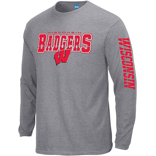 NCAA Men's Wisconsin Badgers Long-Sleeve Tee