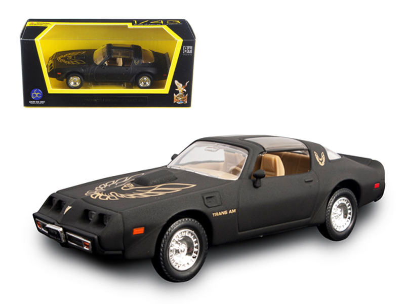 1979 Pontiac Firebird Trans Am Matt Black 1 43 Cast Model Car By Road Signature