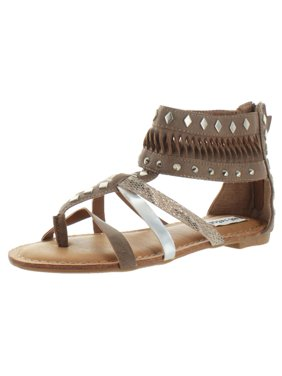 efaa69610f0 Product Image Not Rated Womens Lemon Twist Faux Leather Cut Out Gladiator  Sandals