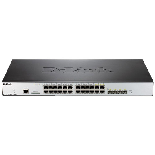 D-Link 20-Port Gigabit Unified Wireless Switch with 4 Gigabit Combo BASE-T/SFP Ports