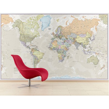 Waypoint Geographic Giant World Map Wall Mural Walmartcom - Large world map walmart