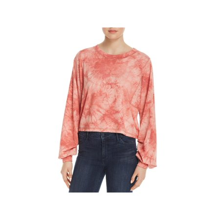 Honey Punch Womens Ruched-Sleeve Tie-Dye T-Shirt (Honey Clothes)