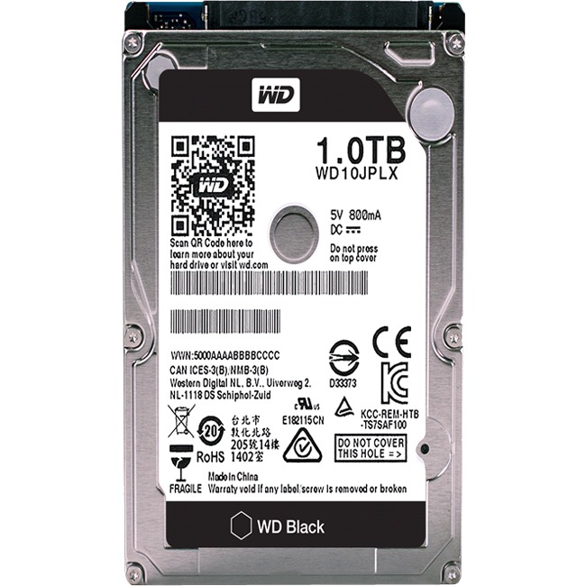 Wd Black 2.5-inch 1tb Performance Hard Drive - Sata - 7200 - 32 Mb Buffer (wd10jplx)