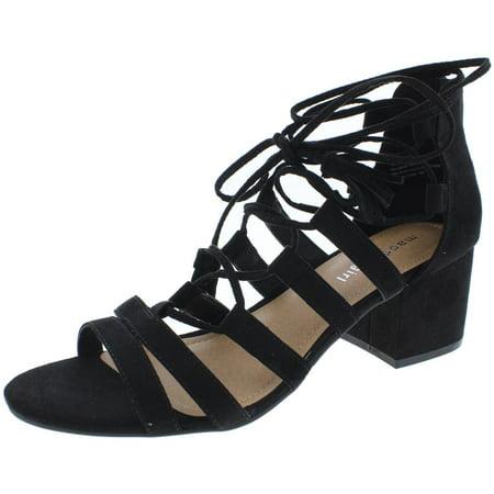 Madden Girl Womens Loverrr Microsuede Ankle Wrap Heels