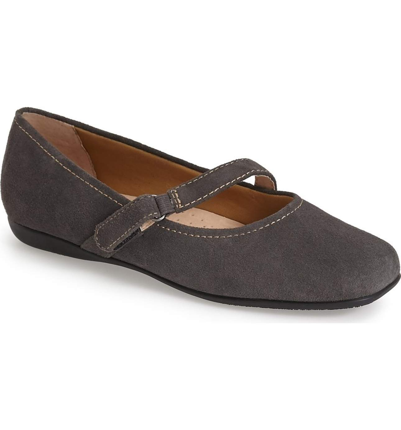 Trotters New Gray Simmy Shoes Size 6N Ballet Flats Graphite Suede SALE by Trotters