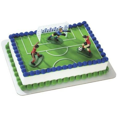 Soccer Kick Off Cake Topper Walmart Com