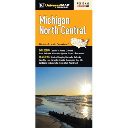 Universal Map Michigan North Central Regional Fold Map  Set Of 2