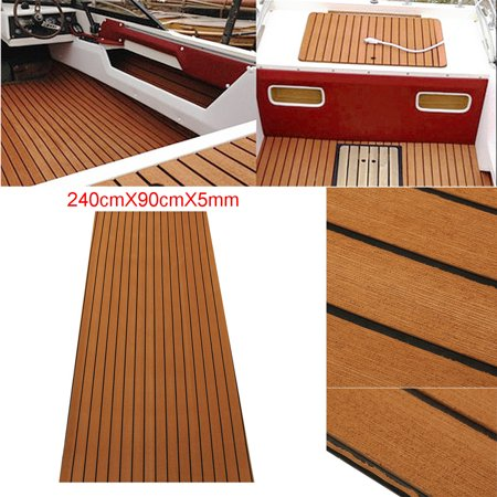 2pcs 35 X 94 Brown Marine Flooring Synthetic Teak Eva Foam Boat