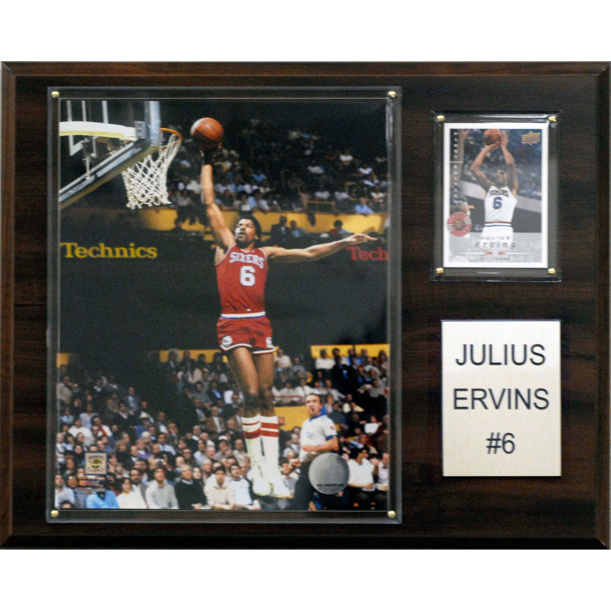 C&I Collectables NBA 12x15 Julius Erving Philadelphia 76ers Player Plaque