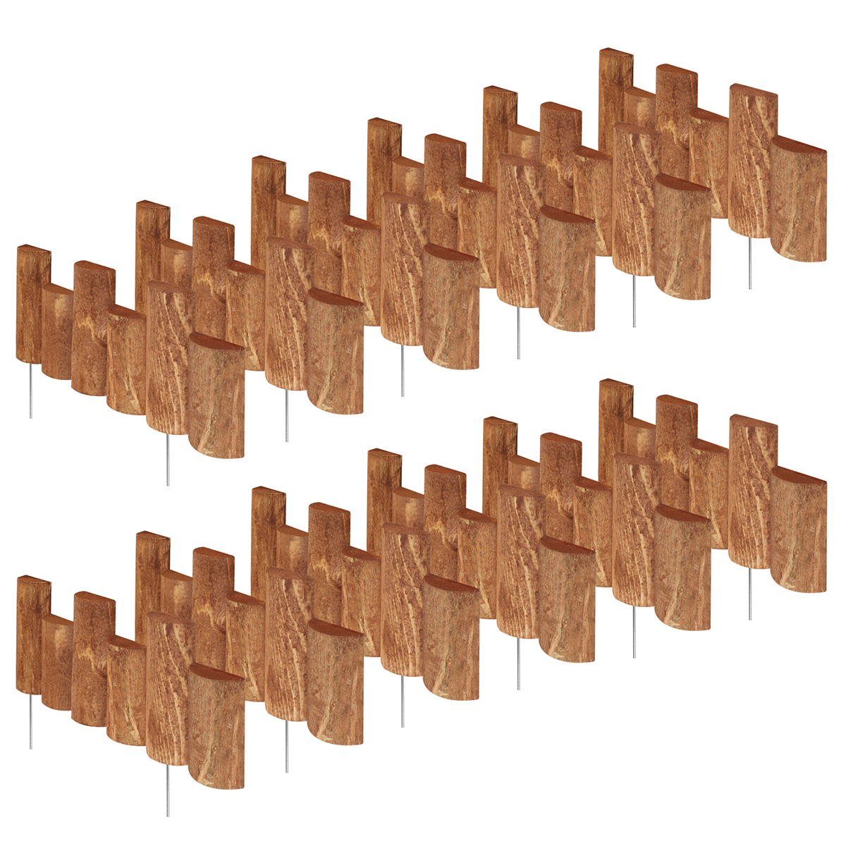 """Greenes Fence 18"""" Wooden Half-Log Edging (12 Pack) by Greenes Fence Company Inc"""
