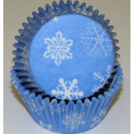 Blue and White Snowflakes Cupcake Liners - Baking Cups -50pack