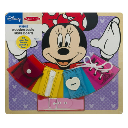 Disney Minnie Wooden Basic Skills Board, 1.0 CT Melissa And Doug Wood Classic Board