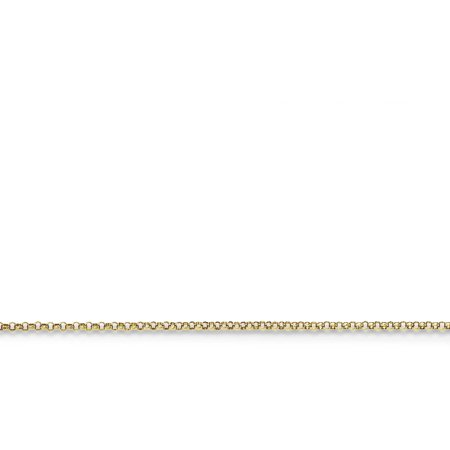 (14kt Yellow Gold 1.15mm Rolo Pendant Chain, 18