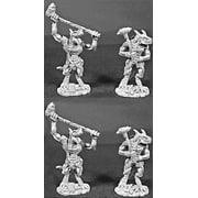 Reaper Miniatures Lizardmen Tyrants 4 Pcs #06049 Dark Heaven Legends Army Packs