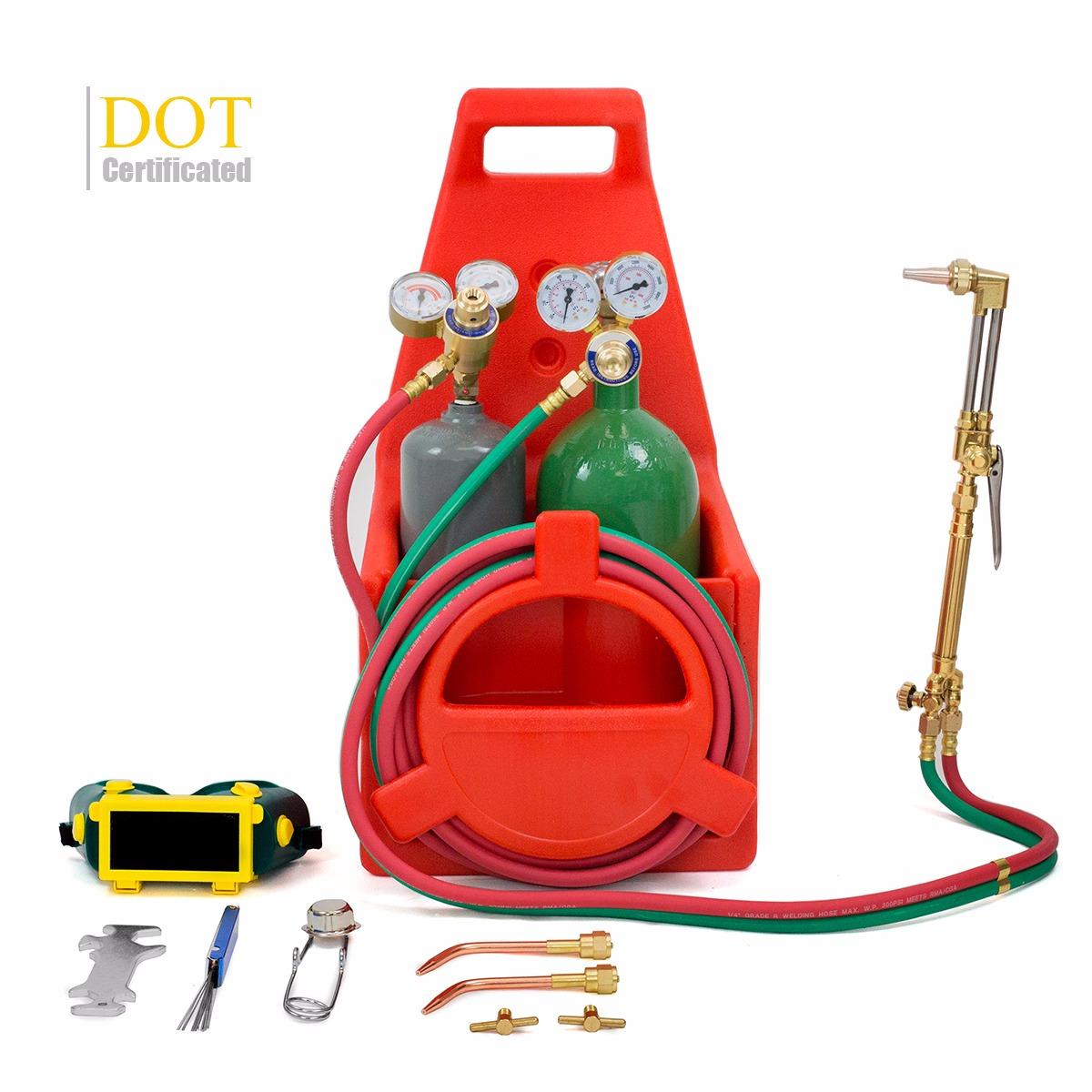 DOT Tote Oxygen Acetylene Oxy Welding Cutting Torch Kit