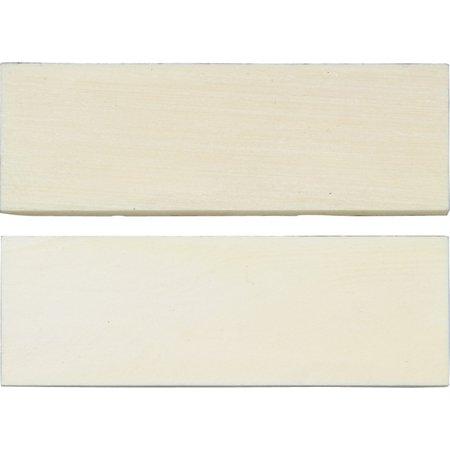 Knife Scales White Smooth Bone