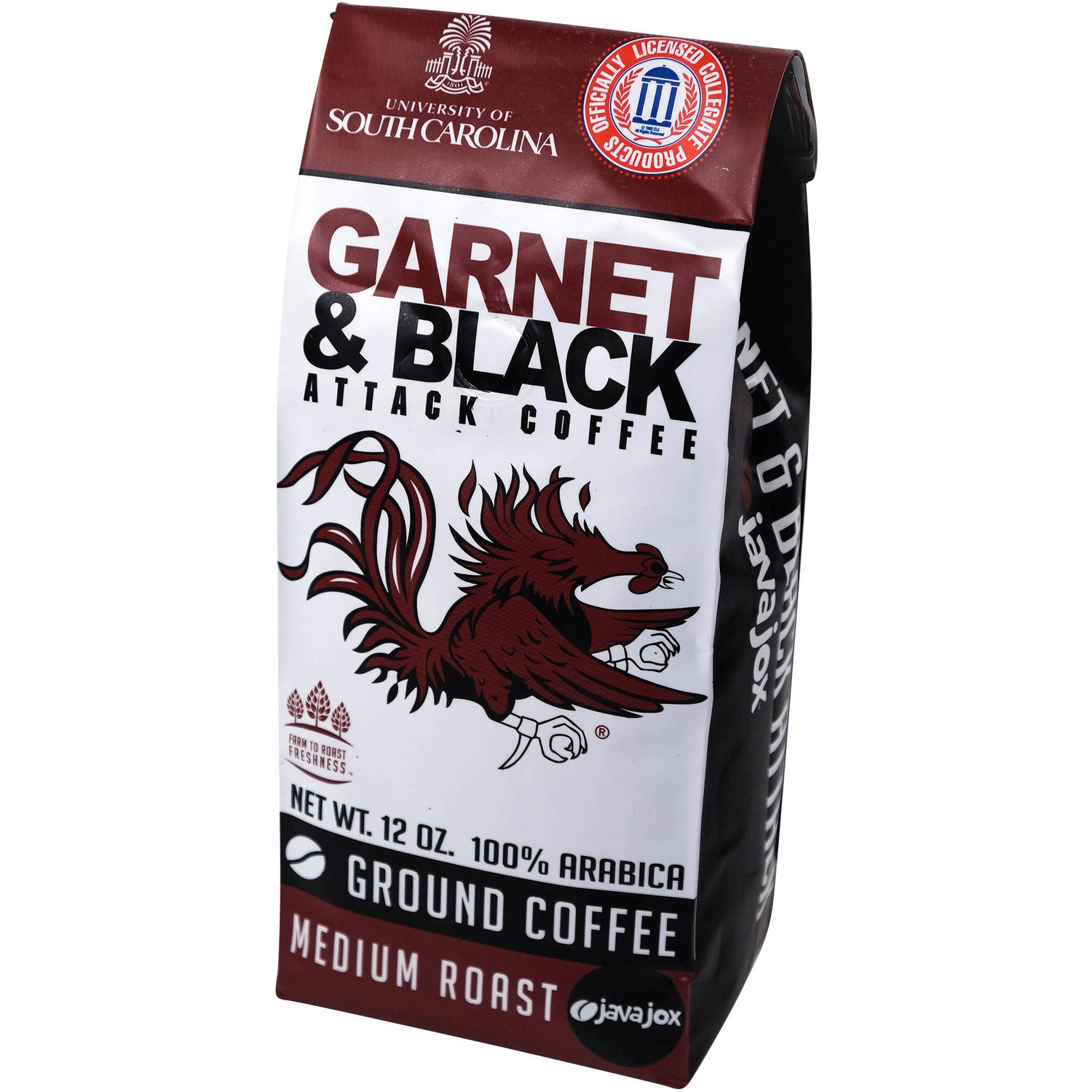 Java Jox University of South Carolina Garnet & Black Attack Ground Coffee, 12 oz
