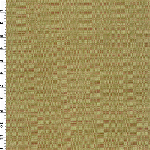 Olive Green/Brown Woven Canvas Home Decorating Fabric, Fabric By the Yard