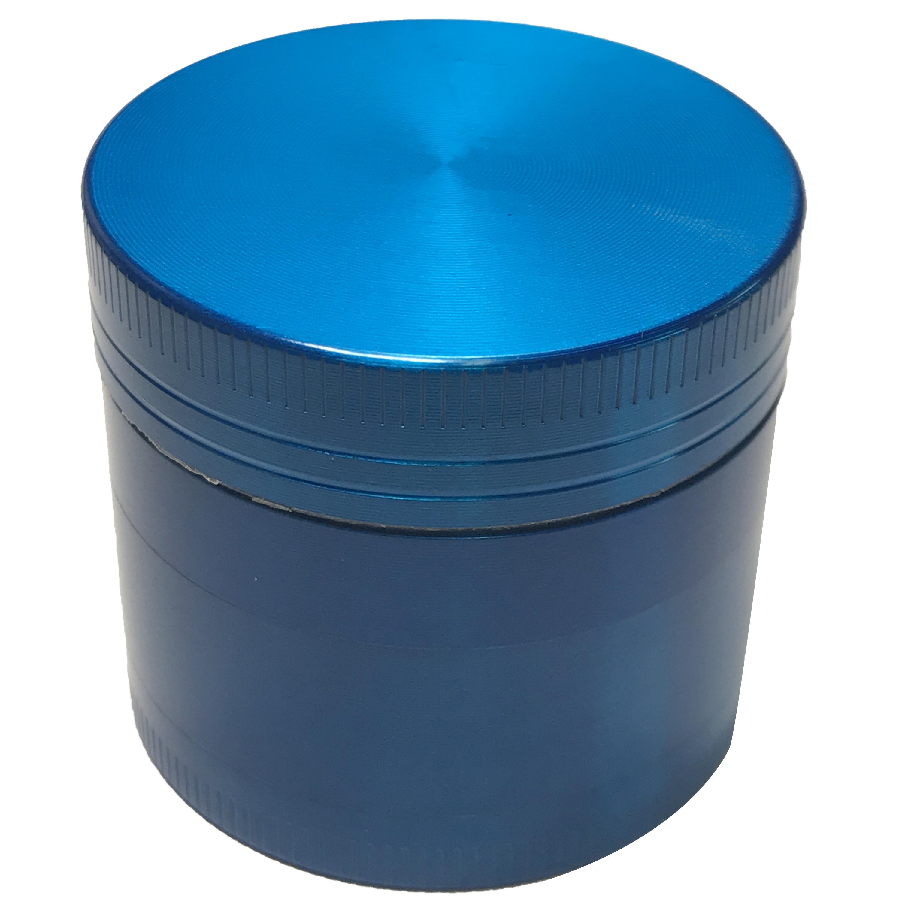 "Sharper 5 Pc Hand Crank Dragon Grinder 2.5/"" Herb Tobacco Spice Clear Top Blue"