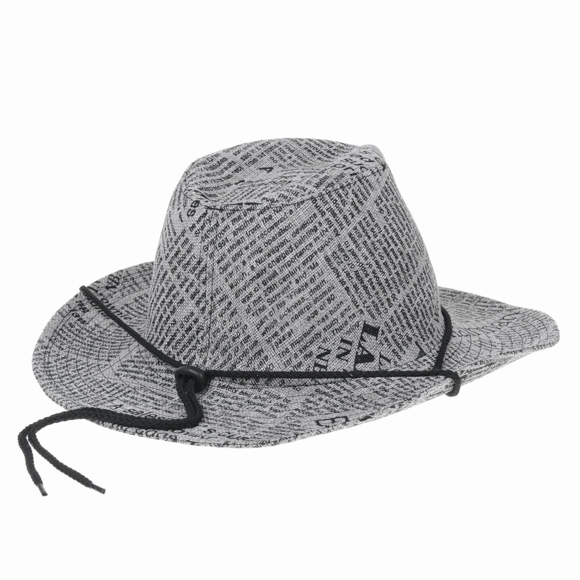 WITHMOONS Western Cowboy Hat Paper Straw Linen Fedora DW8311 (Grey) -  Walmart.com d949d92c679