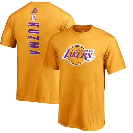 brand new f8d13 f50ad Kyle Kuzma Los Angeles Lakers Fanatics Branded Team Backer Name & Number  T-Shirt - Gold