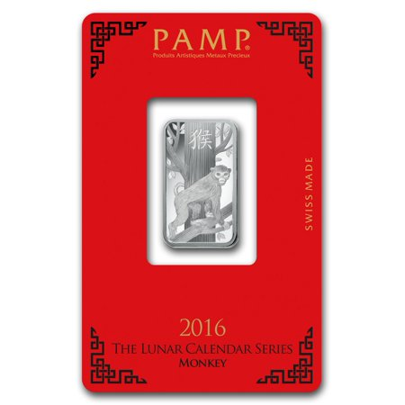 10 gram Silver Bar - PAMP Suisse (Year of the Monkey) for $<!---->