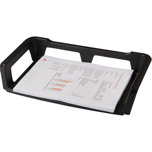 Storex Recycled Letter Trays, Black, Case of 6