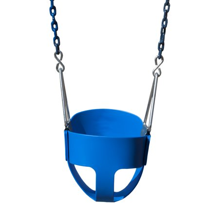 Full Bucket Toddler Swing (Gorilla Playsets Full Bucket Toddler Swing - Blue with Blue Chains )