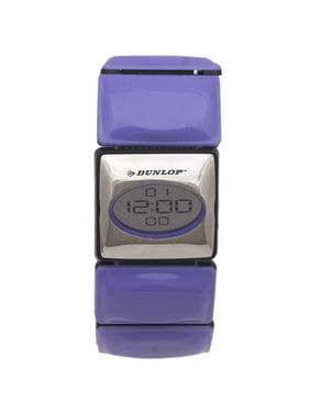 1d7bcf1e5 Product Image Dunlop Digital Watch Women´s DUN73L09 Silver/Purple Plastic  Case Elastic Strap