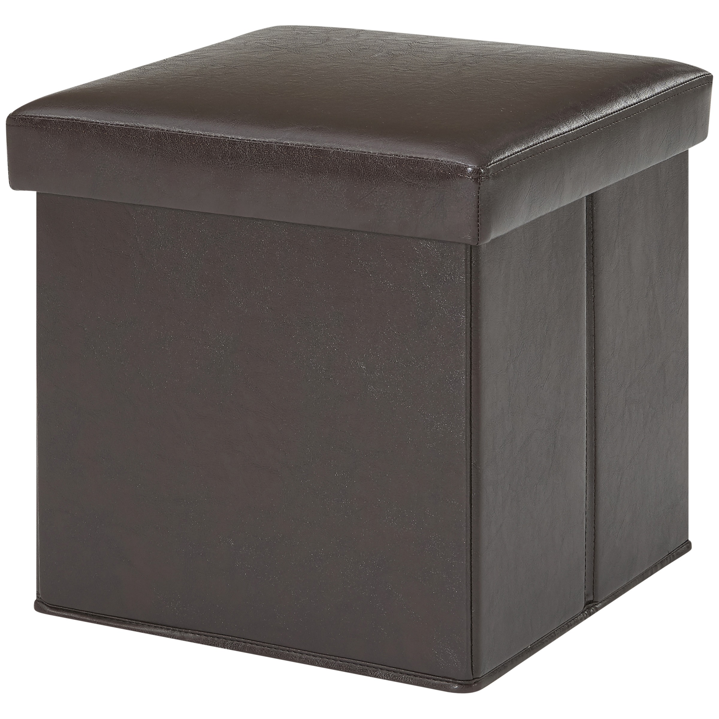 Genial Product Image Mainstays Ultra Collapsible Storage Ottoman, Brown Faux  Leather