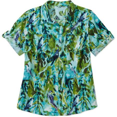 9645f3fedbd Women s Plus-Size Woven Camp Shirt