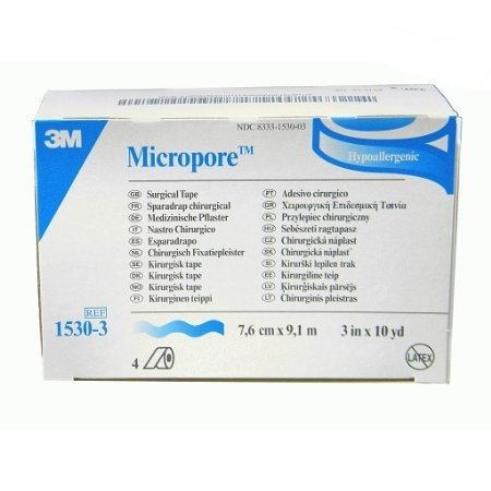 3M Micropore Surgical Paper Tape  3 Inch X 10 Yards   Box Of 4