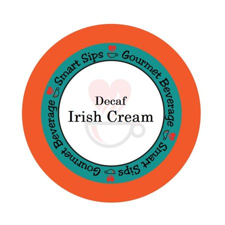 Smart Sips Coffee Decaf Irish Cream Flavored Coffee Single Serve Cups, 48 Count, Compatible With All Keurig K-cup Machines, Decaffeinated Flavored Coffee