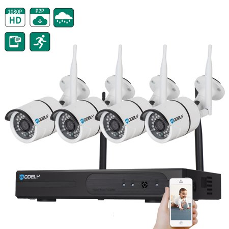 Wireless Hidden Camera, 1080P NVR Surveillance Camera System with 4Pcs 720P 1.0MP IP Waterproof Security Camera, 65ft Night Vision, Indoor/Outdoor CCTV Video Camera, Security Cameras for Home,