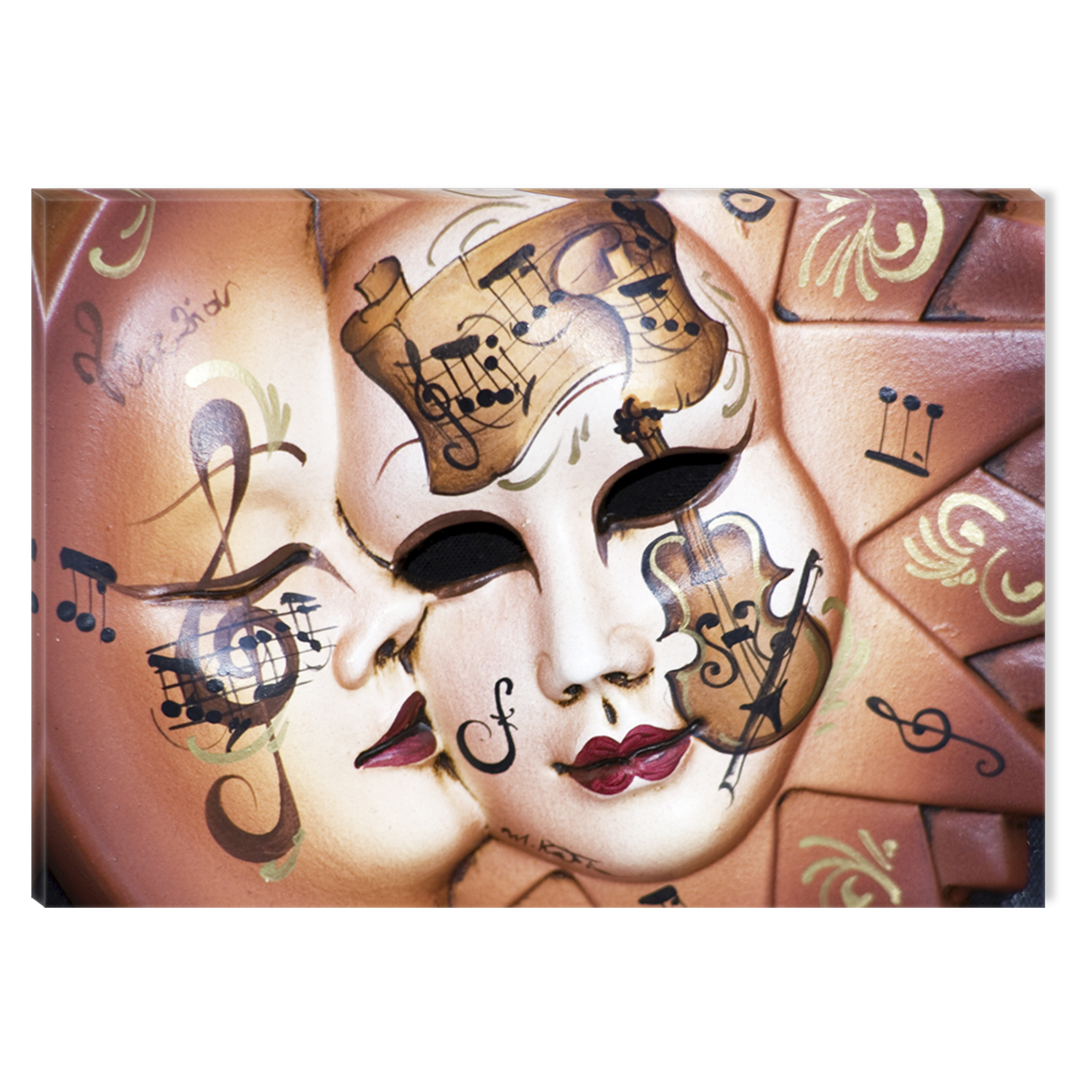 Startonight Canvas Wall Art Music Masks USA Design for Home Decor, Illuminated Abstract Painting Modern Canvas Artwork Framed Ready to Hang Medium 23.62 X 35.43 inch