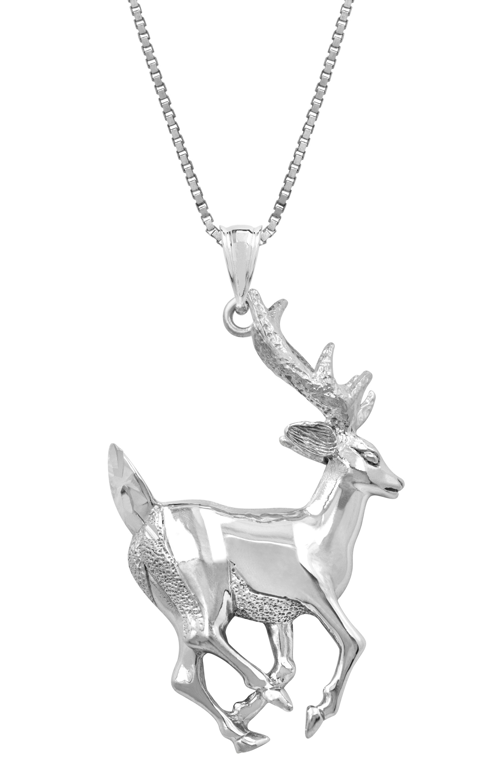 deer metallic pendant gallery jewelry lyst in crystalred westwood vivienne