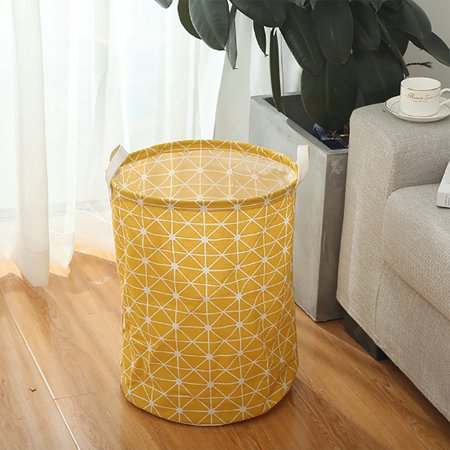 Foldable Cotton Linen Washing Dirty Clothes Laundry Basket
