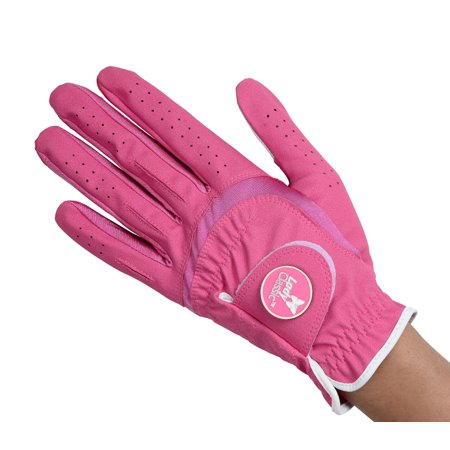 Lady Classic Ladies Soft Flex Ball Marker Golf Gloves Large Left Fuchsia