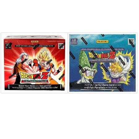 Dragon Ball Z Collectible Card Game Awakening and Vengeance Booster Box Bundle, 1 of Each - One Piece Collectible Card Game