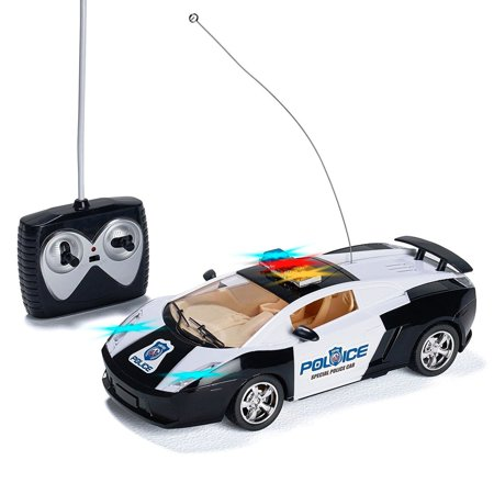 Prextex Remote Control Police Car with LED Lights and Rc Police Siren Sounds RC Police Car Toys for Boys Best Christmas gift for 8-12 year old - Good Toys For 8 Year Old Boy